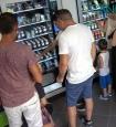 Canapa Legale a Porto Torres. Foto dettaglio delle macchine automatiche del negozio h24 a porto torres