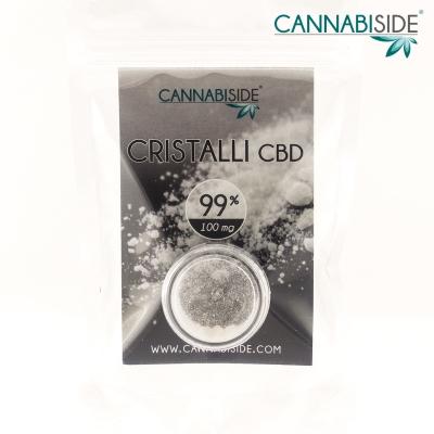 Cristalli di CBD 99 % da 100 mg Cannabiside
