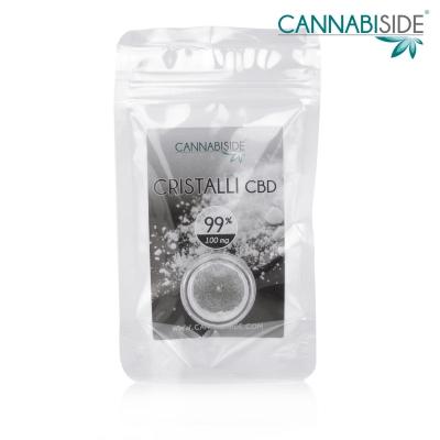 Cristalli di CBD 99 % da 100 mg