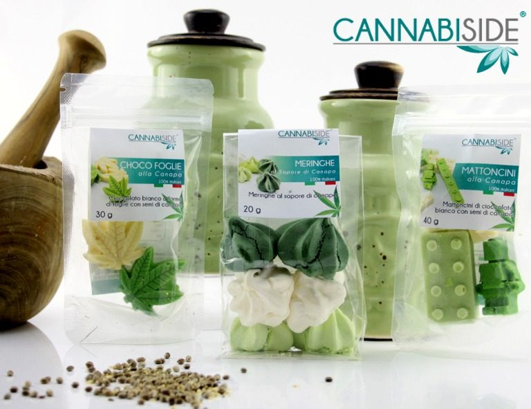 Foods Products of Cannabis Sativa Selled in the Cannabiside Franchise