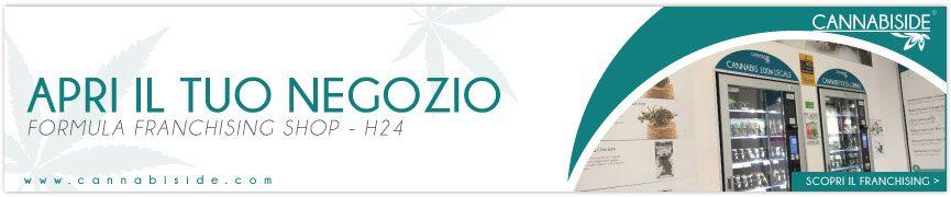Franchising Cannabis Legale. Apri il tuo Shop - distributori automatici Cannabiside !