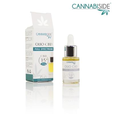 Olio Cbd al 15 % Full Spectrum di Cannabis Sativa 5 ml