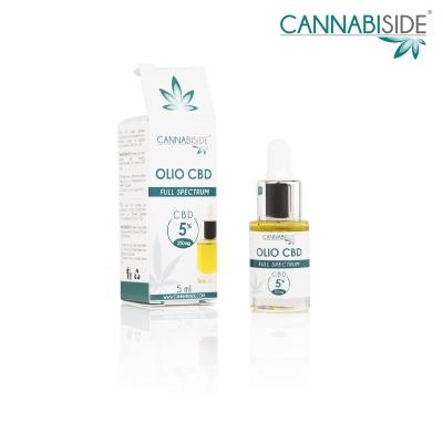 Olio Cbd al 5 % Full Spectrum di Cannabis Sativa 5 ml