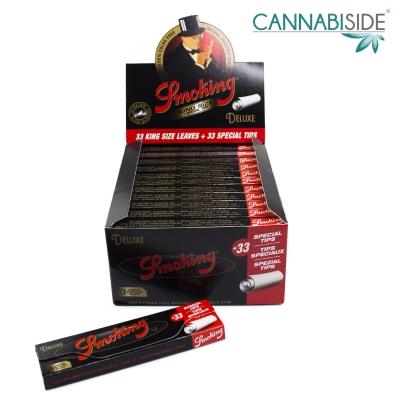 Smoking Deluxe Black Cartine King Size + Filtri