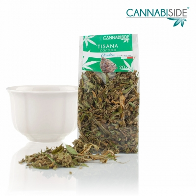 tisana infuso tè the alla cannabis sativa busta da 20 grammi