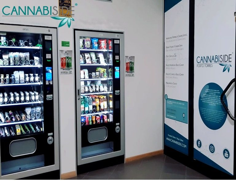 Vending Machines in the Cannabis Shop Products Custom Designed